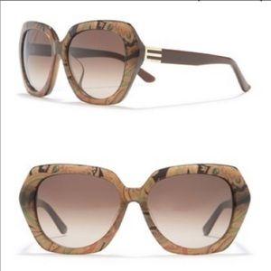Etro Turtle Dove Paisley Sunglasses NEW